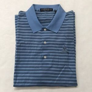Carnoustie Blue Stripe Congressional CC Golf Polo